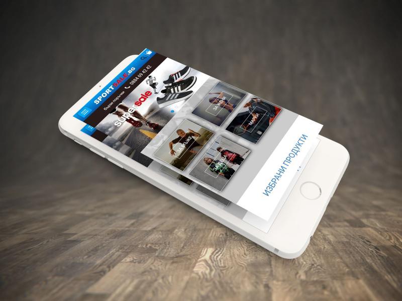 portfolio image of website desing for sports clothing