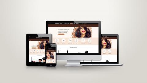 portfolio image of Website design for a cosmetic agency