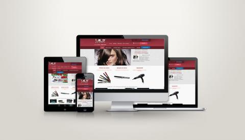 portfolio image of website design for hair accessories